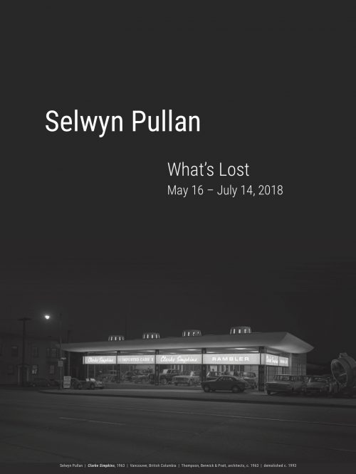 Selwyn Pullan: What's Lost