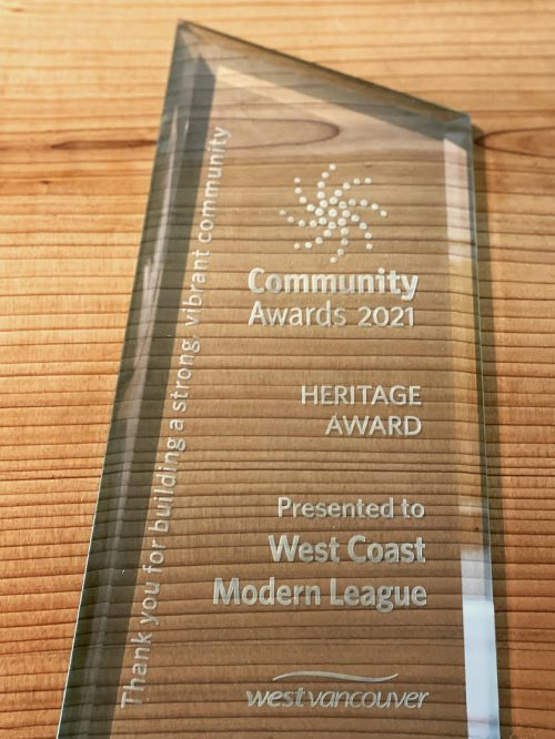 The League Receives a West Vancouver Heritage Award